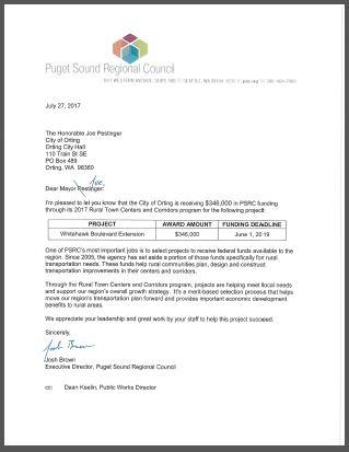Whitehawk Funding Letter